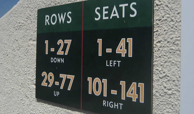 Rose Bowl Seat Numbers