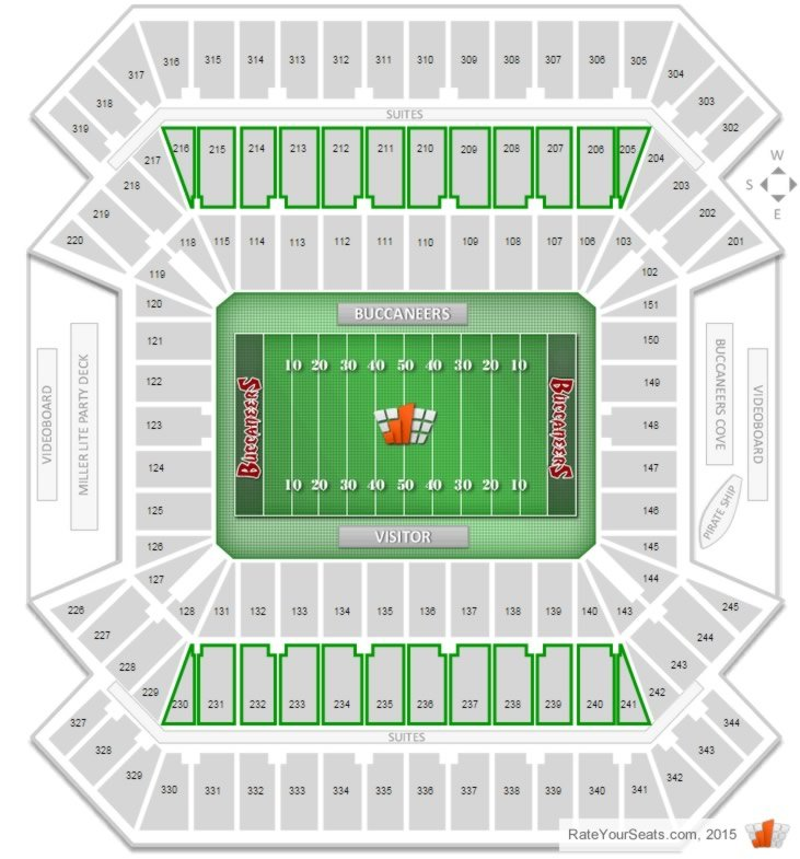 Where Are The Club Seats At Raymond James Stadium And What Is The Price Range Rateyourseats Com
