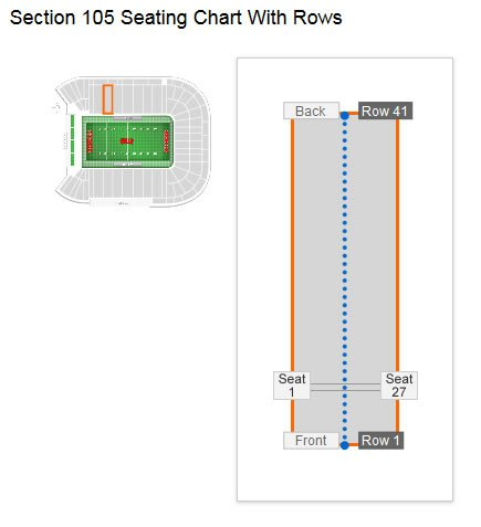 What Are The Aisle Seats In Section 105 Row 8 At Sam Boyd Stadium