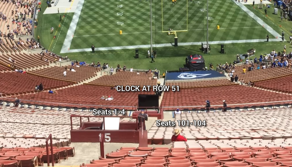 Does The 30 Second Clock Block Any Views In Section 15 At La Coliseum