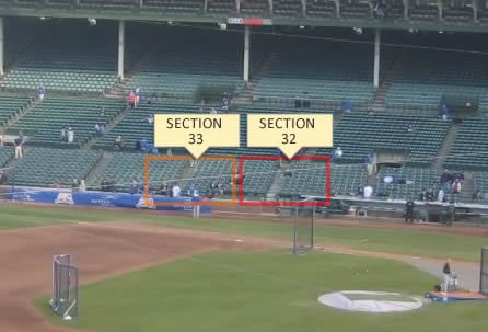 Sections 32 and 33 at Wrigley Field