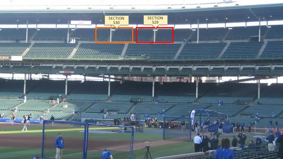 Sections 529 and 530 at Wrigley Field
