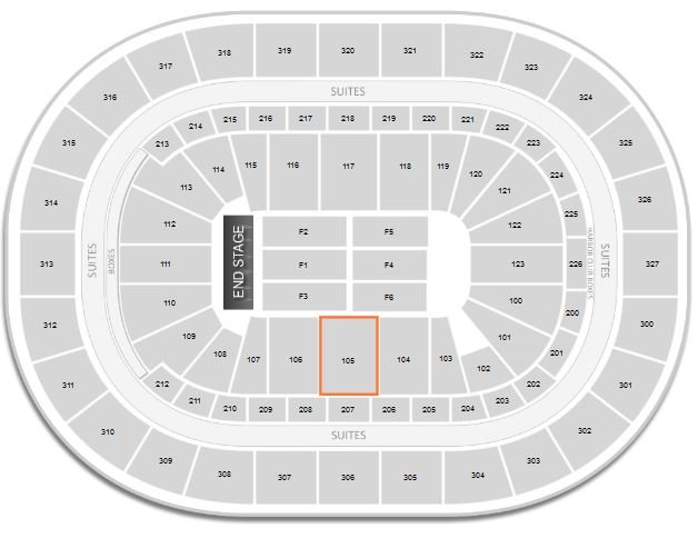 How Is The View From Section 105 Row 1 For A Concert At First Niagara Center