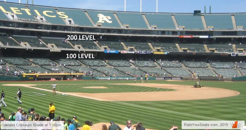Oakland Athletics Oakland Coliseum Seating Chart