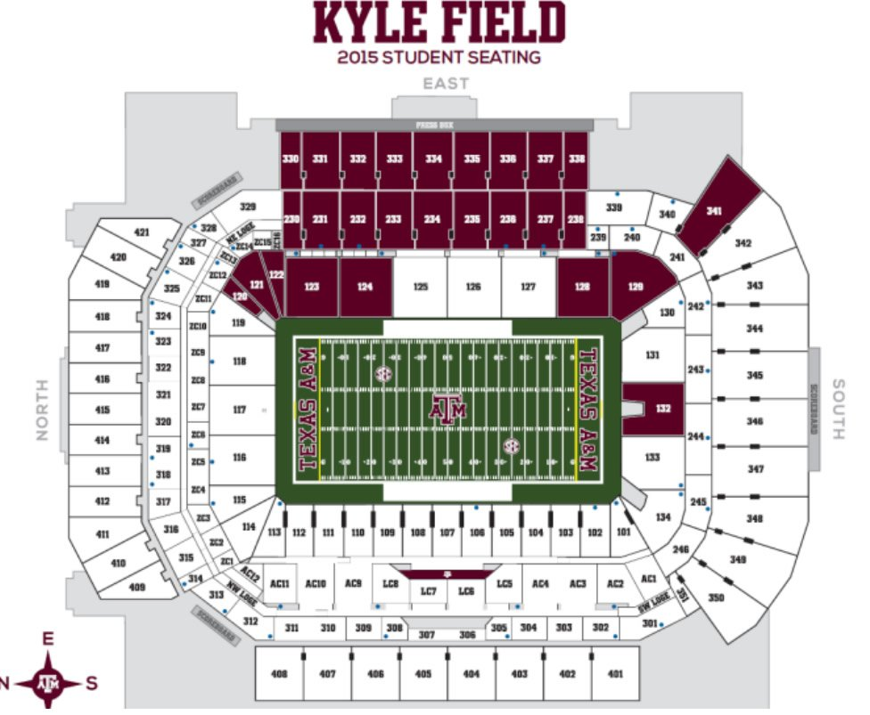 Texas Am Football Kyle Field Seating Chart Interactive