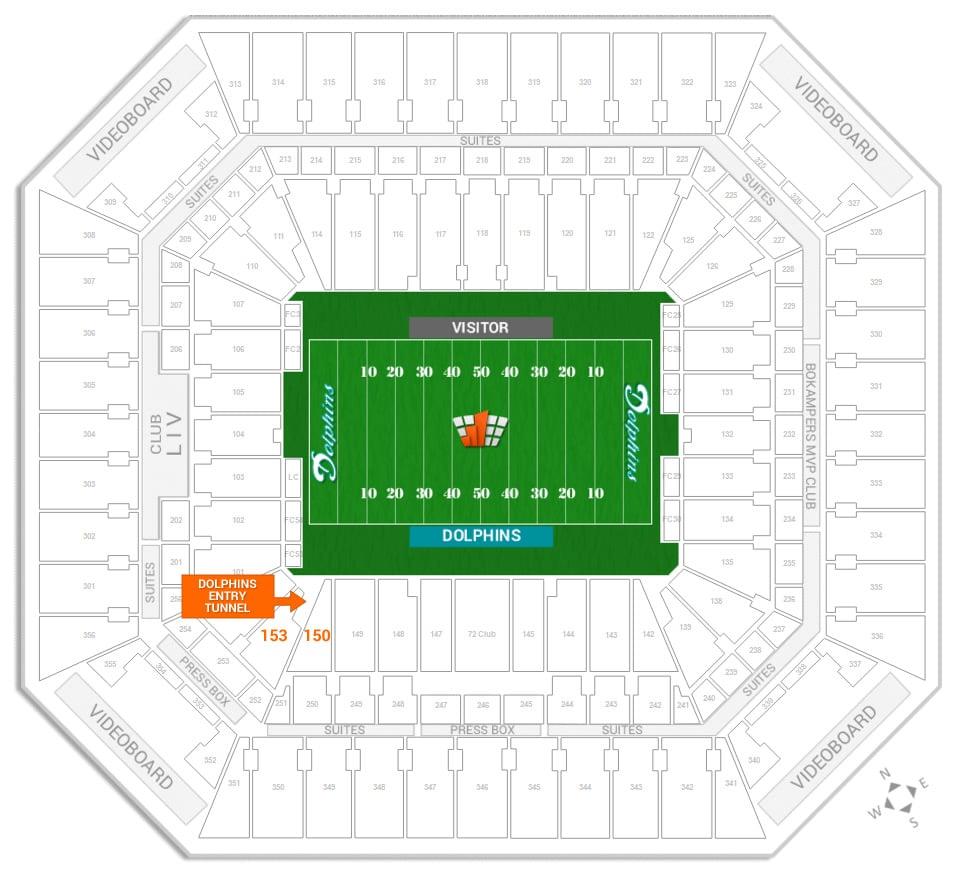dolphins & miami fl hard rock stadium seating chart