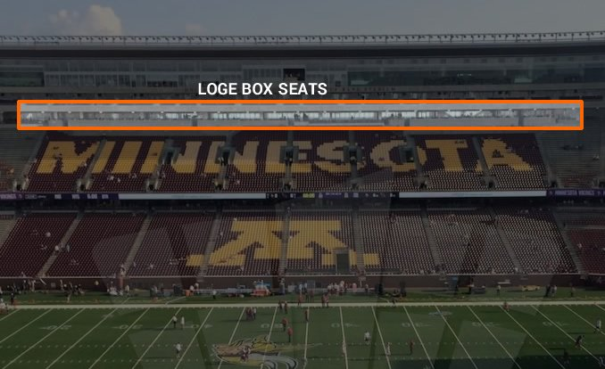 Loge Box Seating Location at TCF Bank Stadium