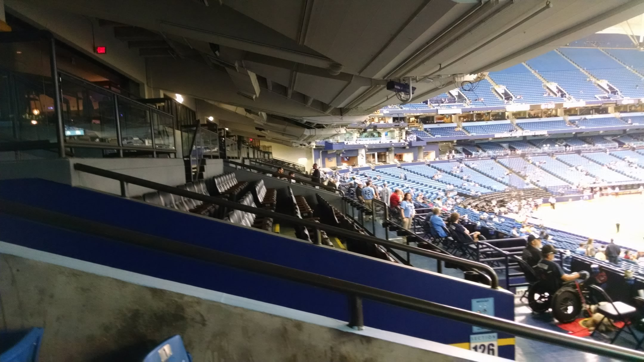 Tropicana Field lower level walkway