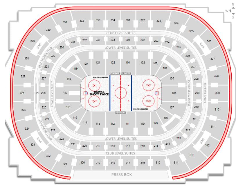 Chicago Blackhawks United Center Seating Chart