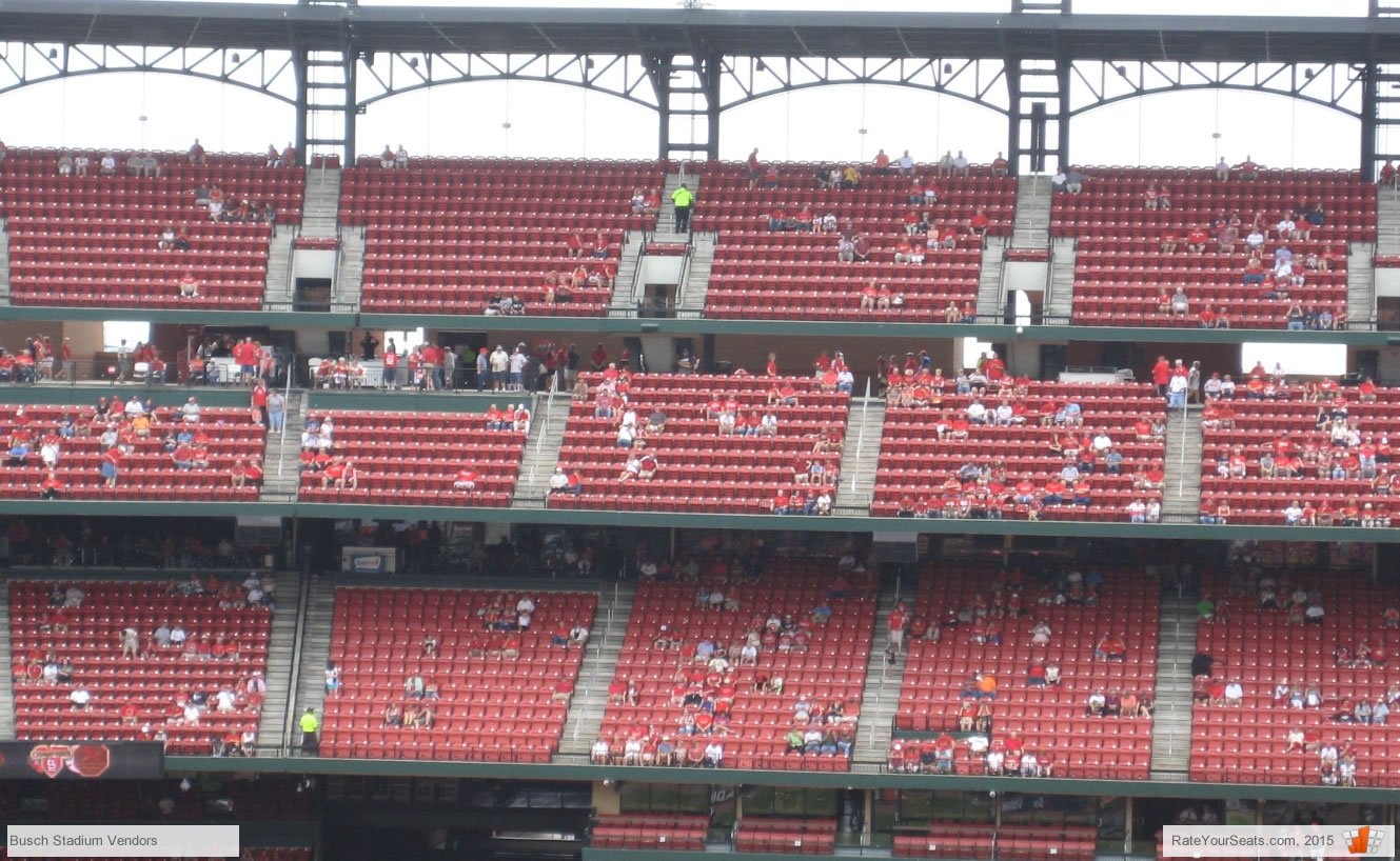 Vendors at a Cardinals game
