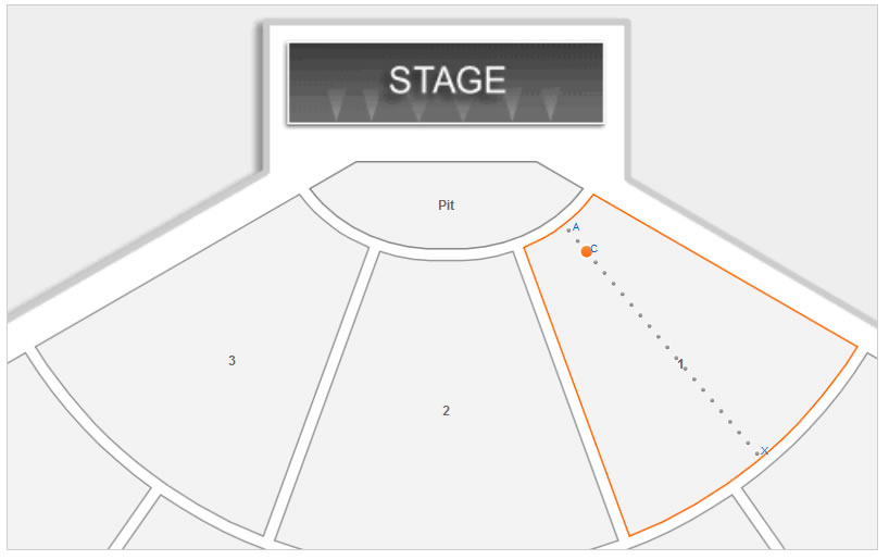 Seating Layout in Orchestra Section 1