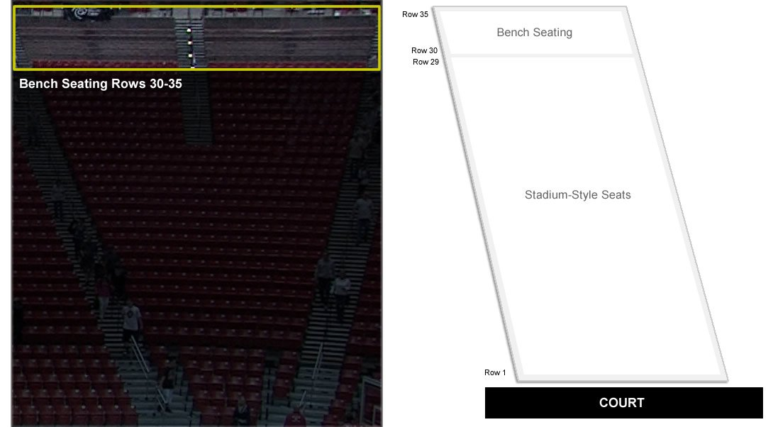 Which rows are on benches at Viejas Arena? - RateYourSeats com