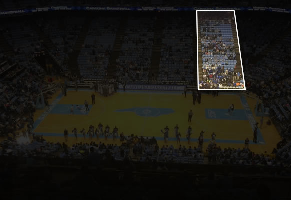 Dean Smith Center Visiting Fans