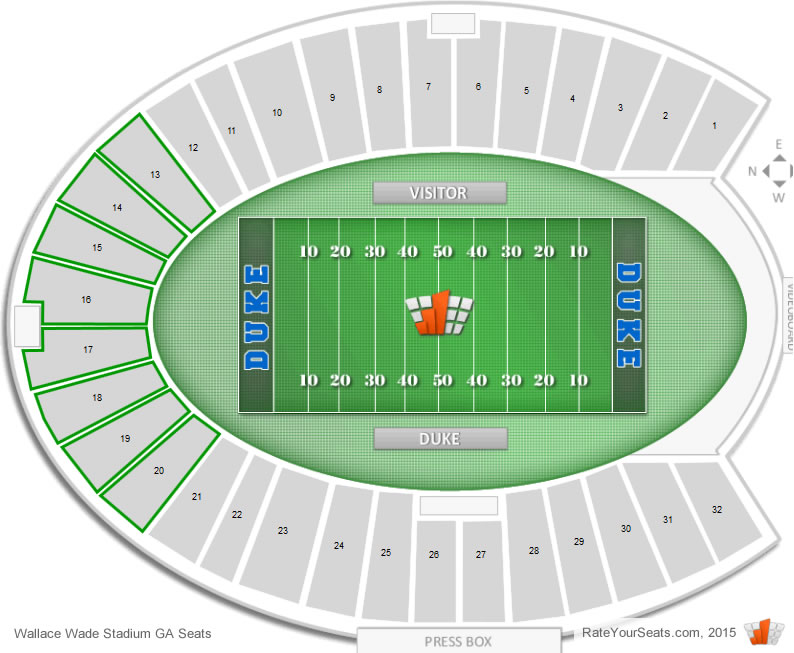 Where Are General Admission Seats At Duke Football Games