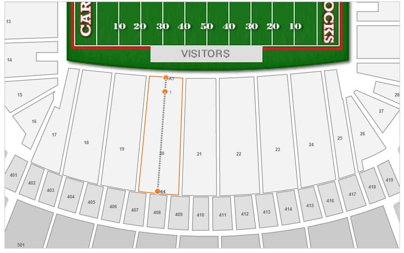Williams Brice Stadium Seating Chart