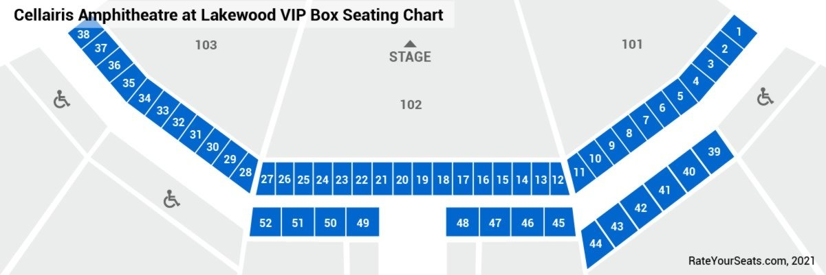 Cellairis Amphitheatre At Lakewood Vip Box Seats Rateyourseatscom