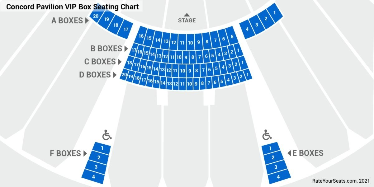 VIP Boxes Seating Chart