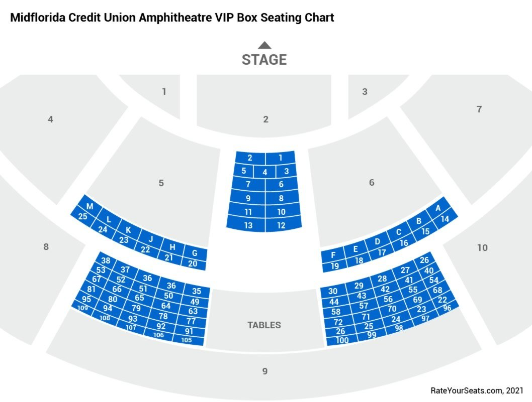Midflorida credit union amphitheatre vip box seats rateyourseats com
