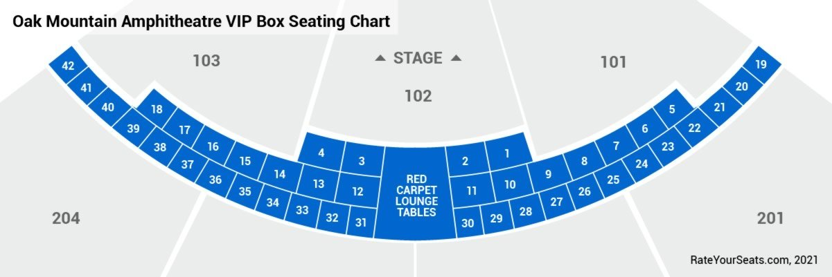 VIP Boxes & Red Carpet Lounge Seating Chart