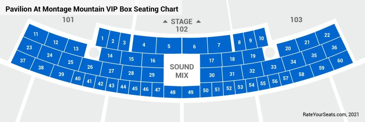Boxes Seating Chart
