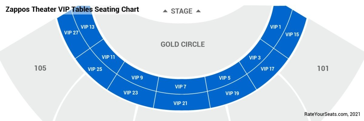 VIP Tables Seating Chart