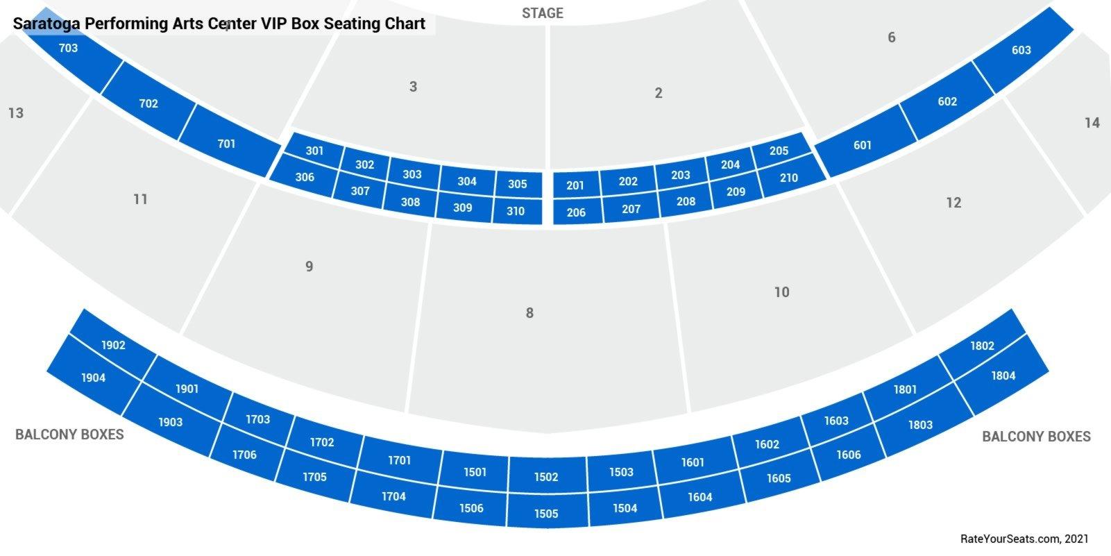 Saratoga Performing Arts Center Box Seats Rateyourseatscom