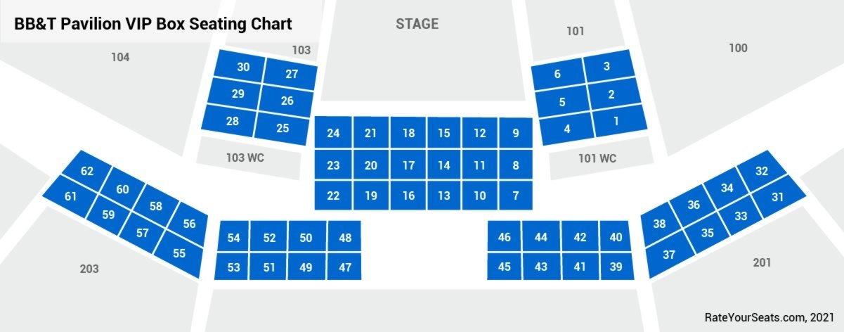 VIP Box Seats Seating Chart