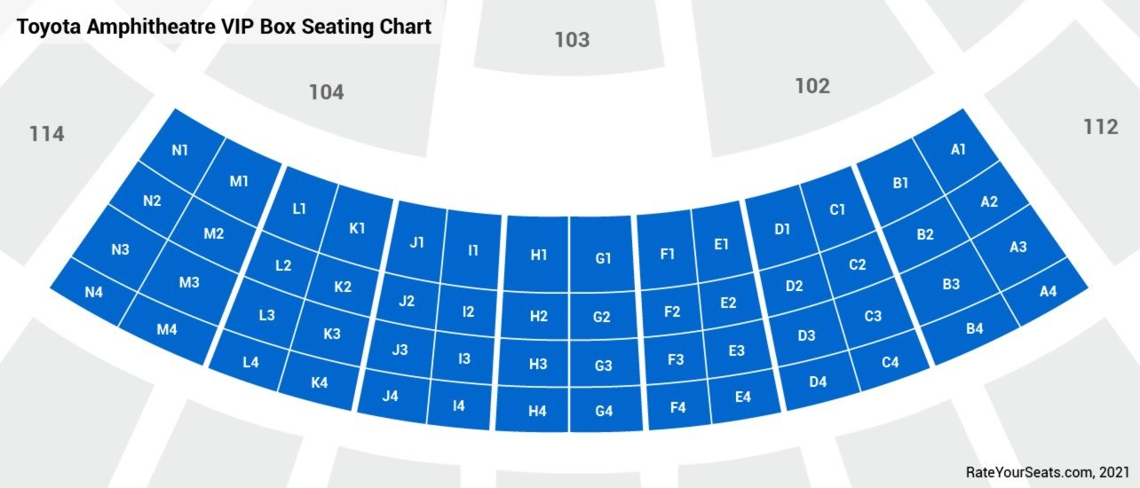 Toyota Amphitheatre  seating chart