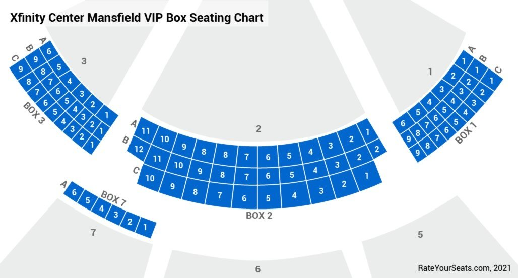 Xfinity Center Mansfield Ma Box