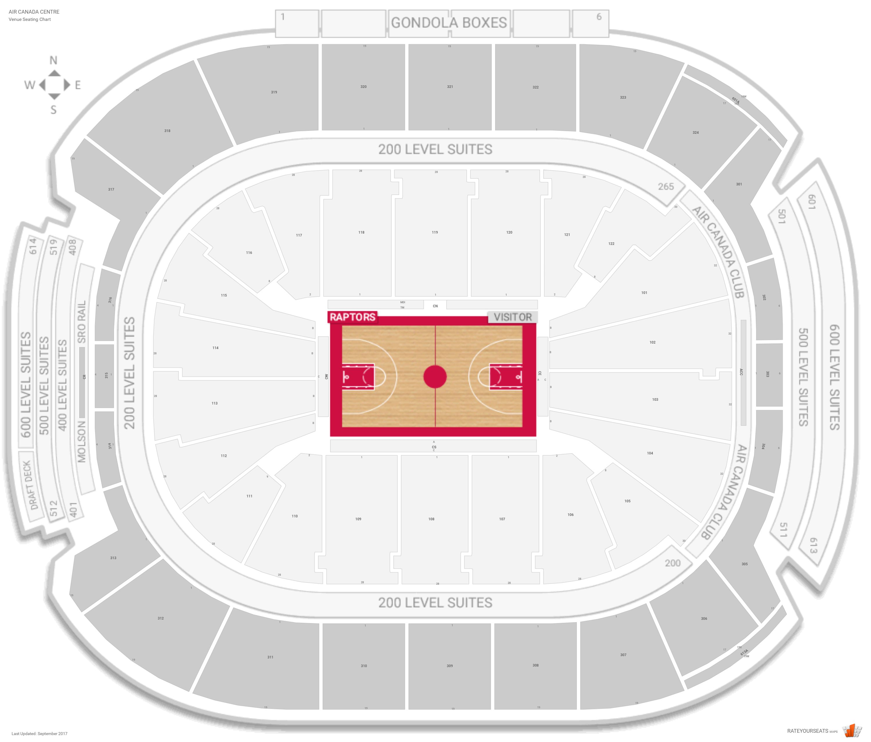 3d Map Of Air Canada Centre.Toronto Raptors Seating Guide Scotiabank Arena Rateyourseats Com