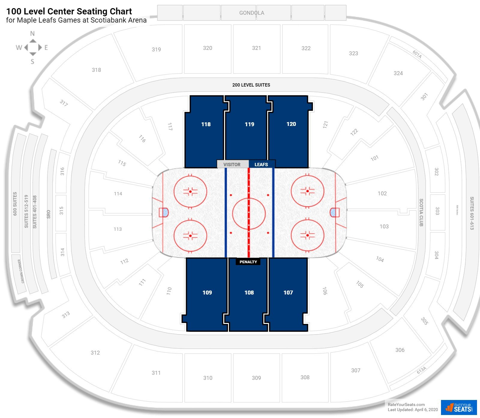 Air Canada Centre Lower Level Center seating chart