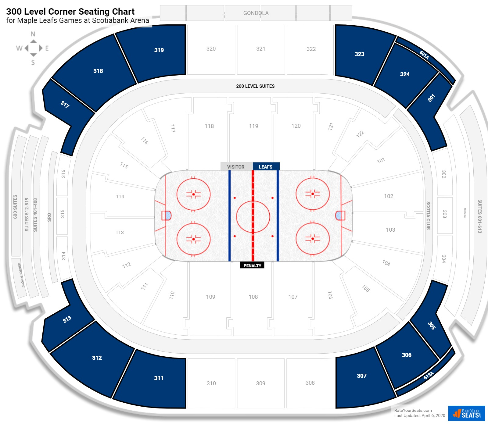 Air Canada Centre Upper Level Corner seating chart
