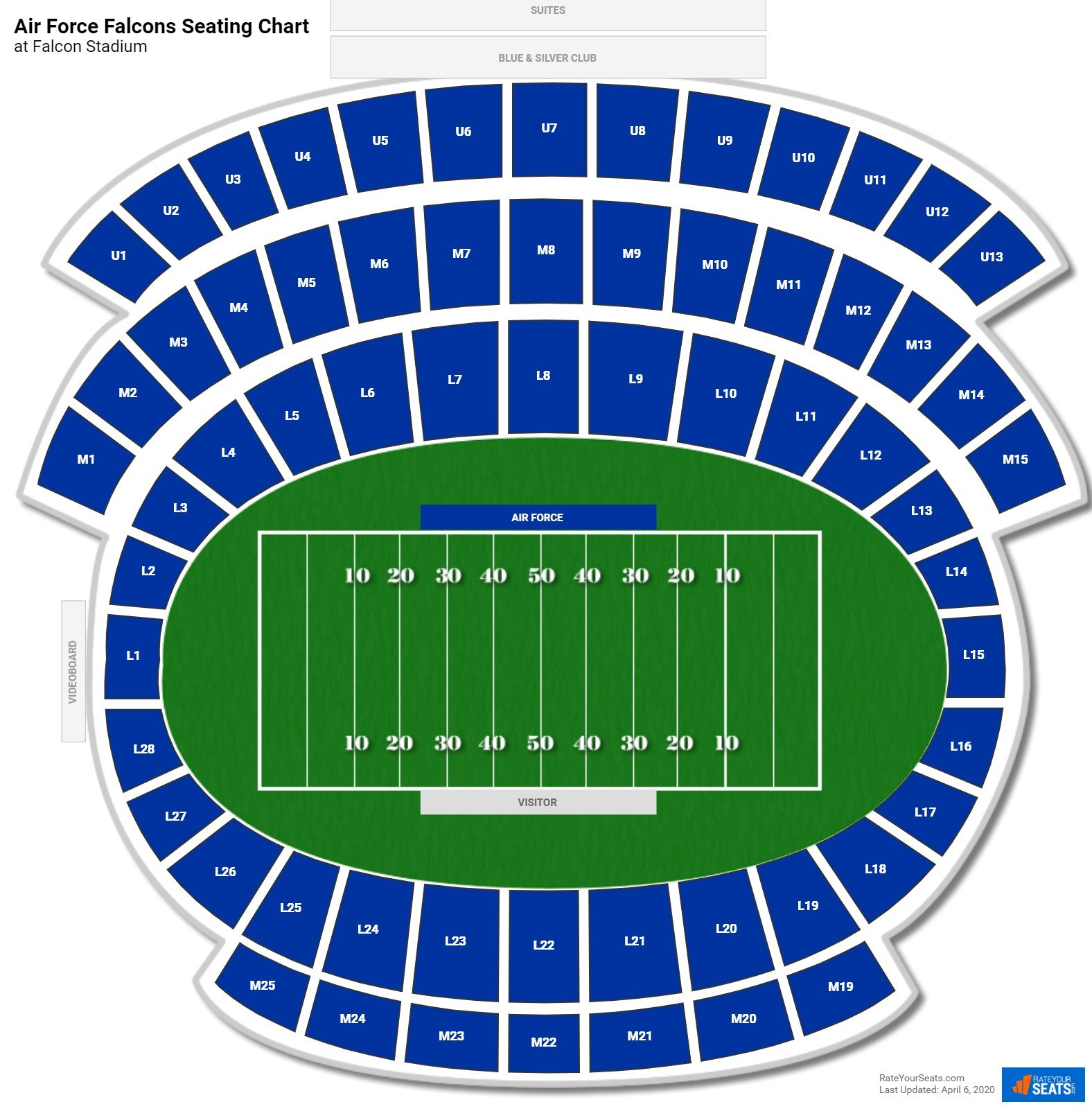 Air Force Football Seating Chart