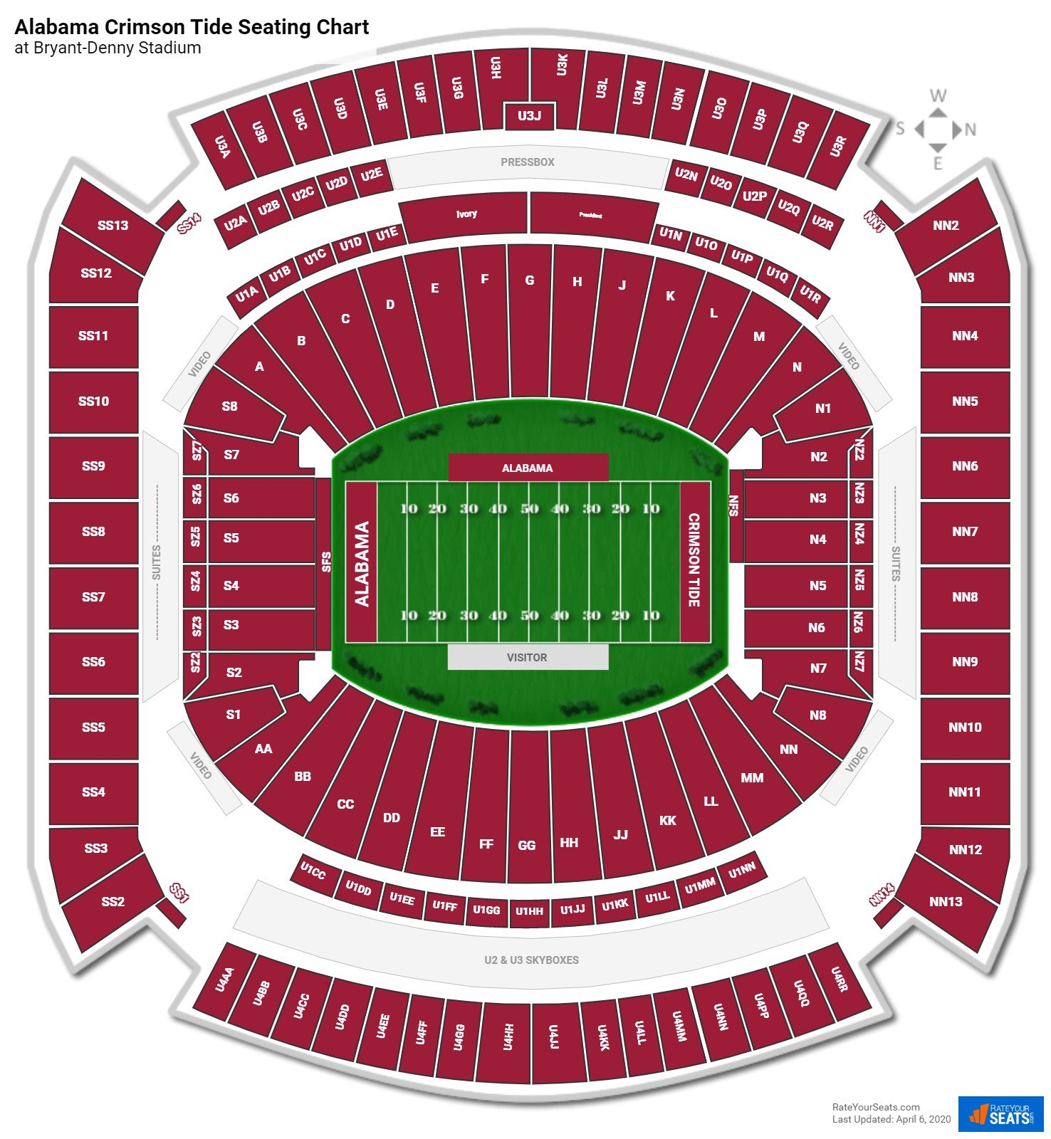 Alabama Football Seating Chart