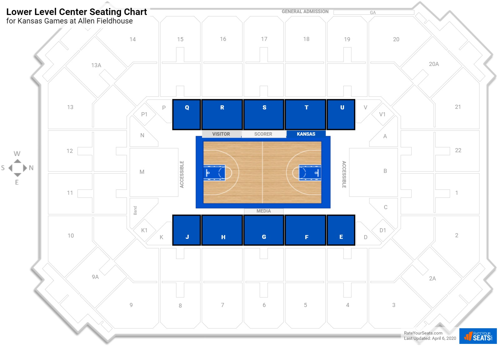Allen Fieldhouse General Admission Basketball Seating Rateyourseats
