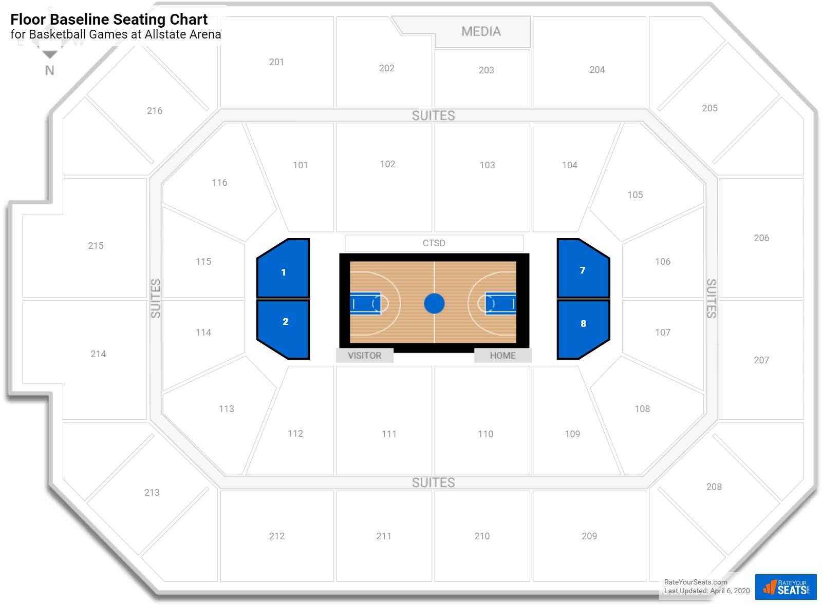 Allstate Arena Floor Baseline Seating Chart