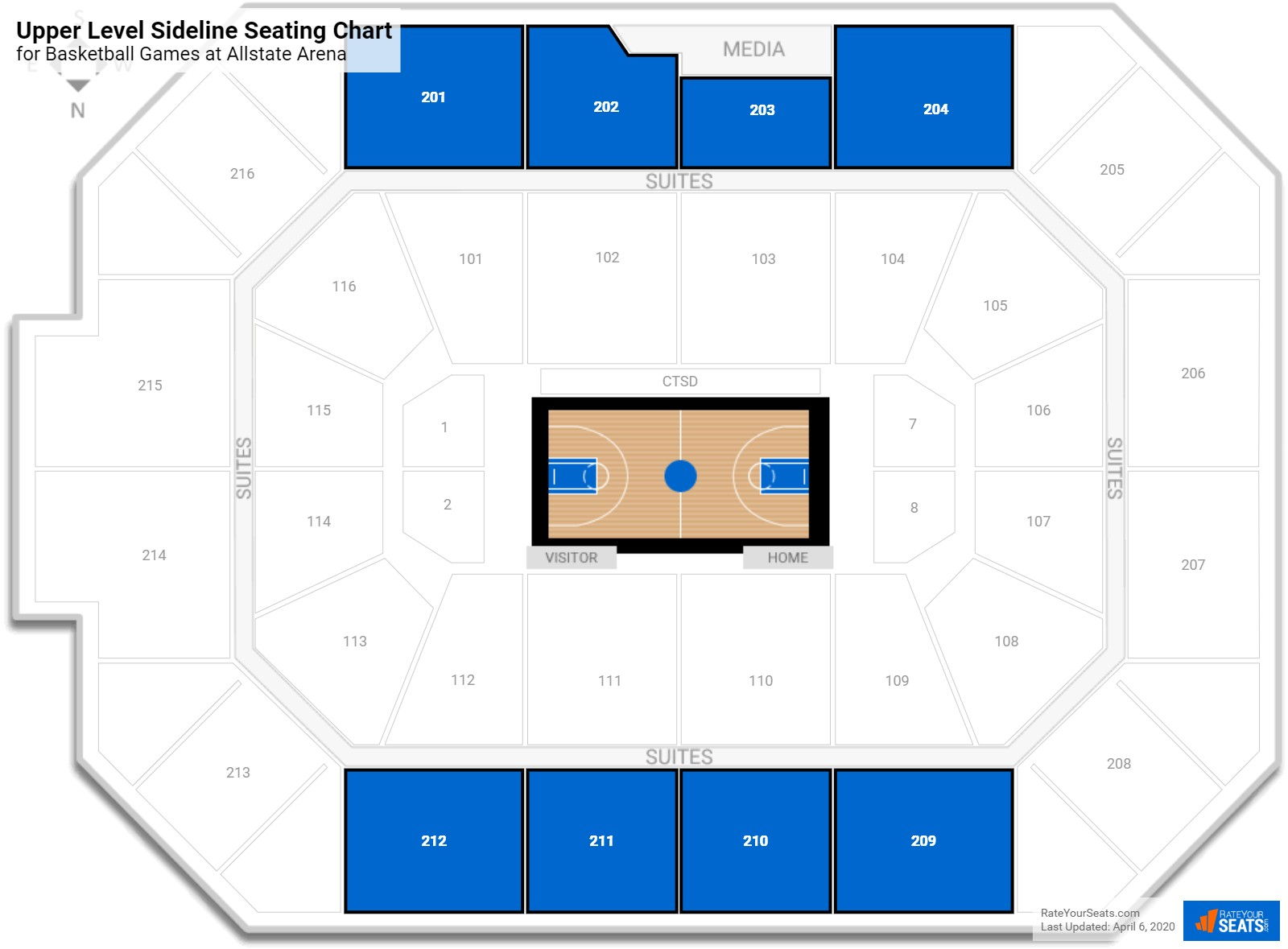 Image Result For Allstate Arena Interactive Seat Map