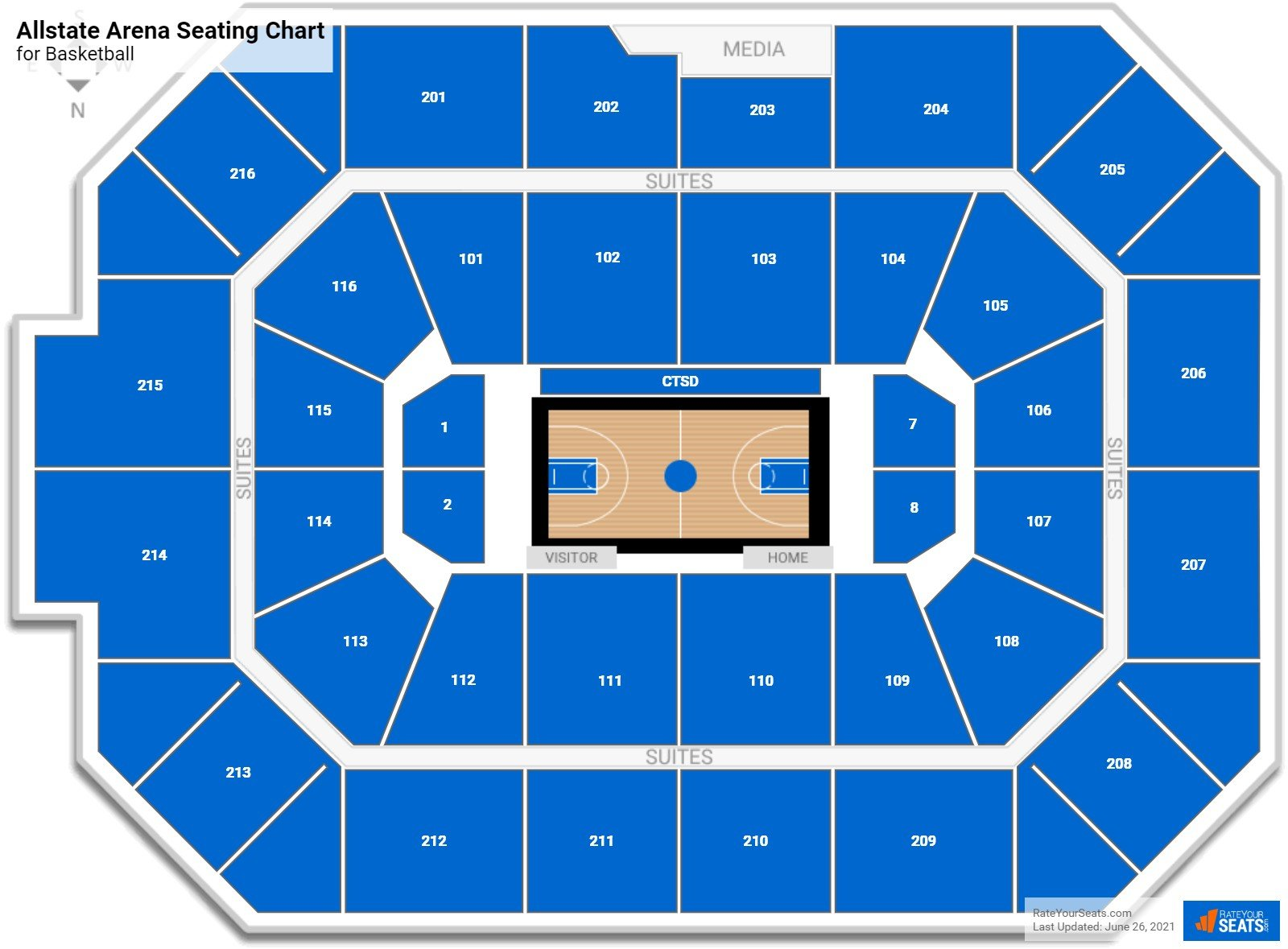 Allstate Arena Seating Chart for Basketball