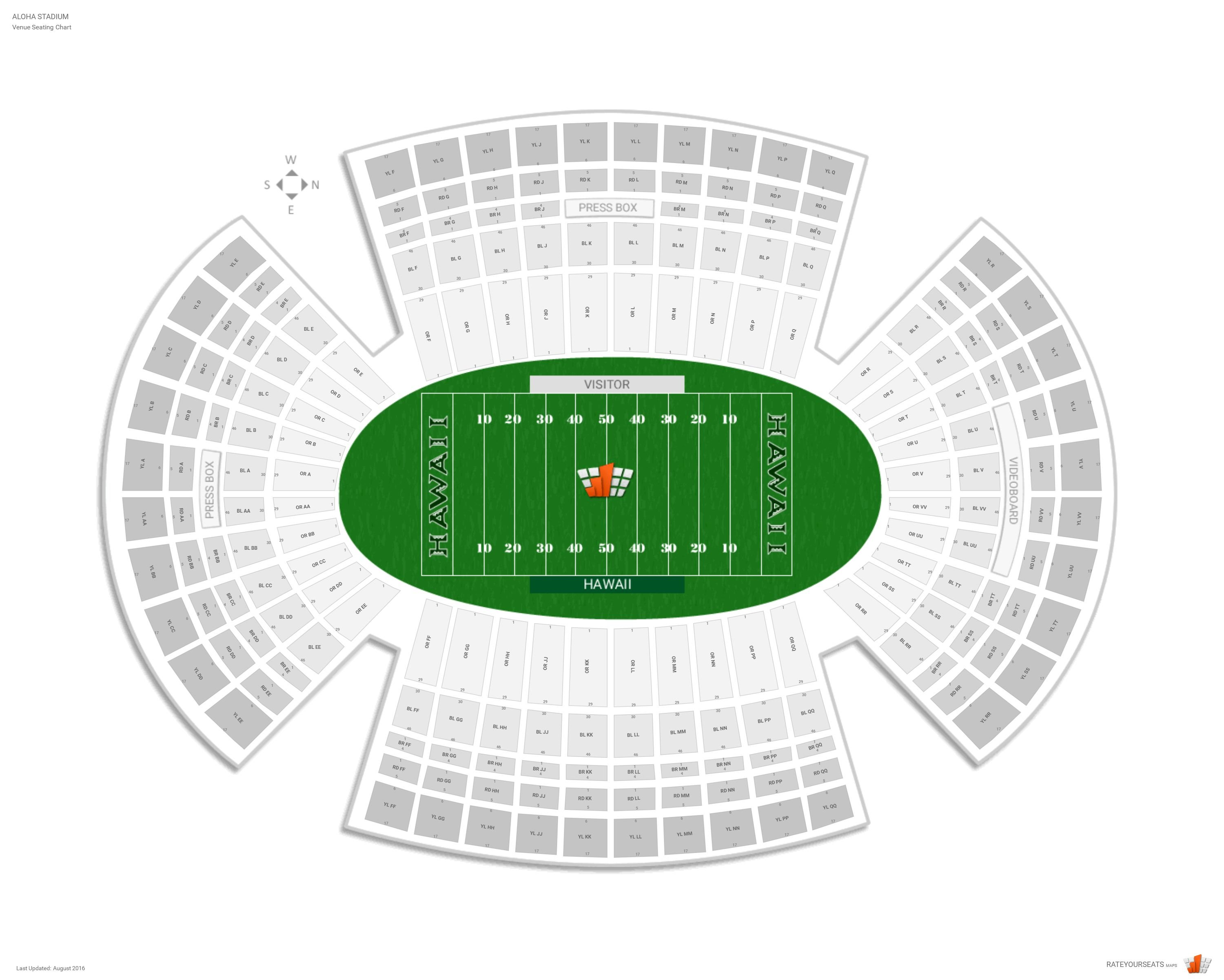 Aloha Stadium (Hawaii) Seating Guide - RateYourSeats com