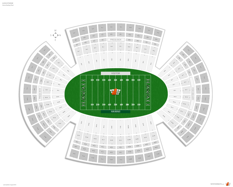 Aloha Stadium Seating Chart With Row Numbers