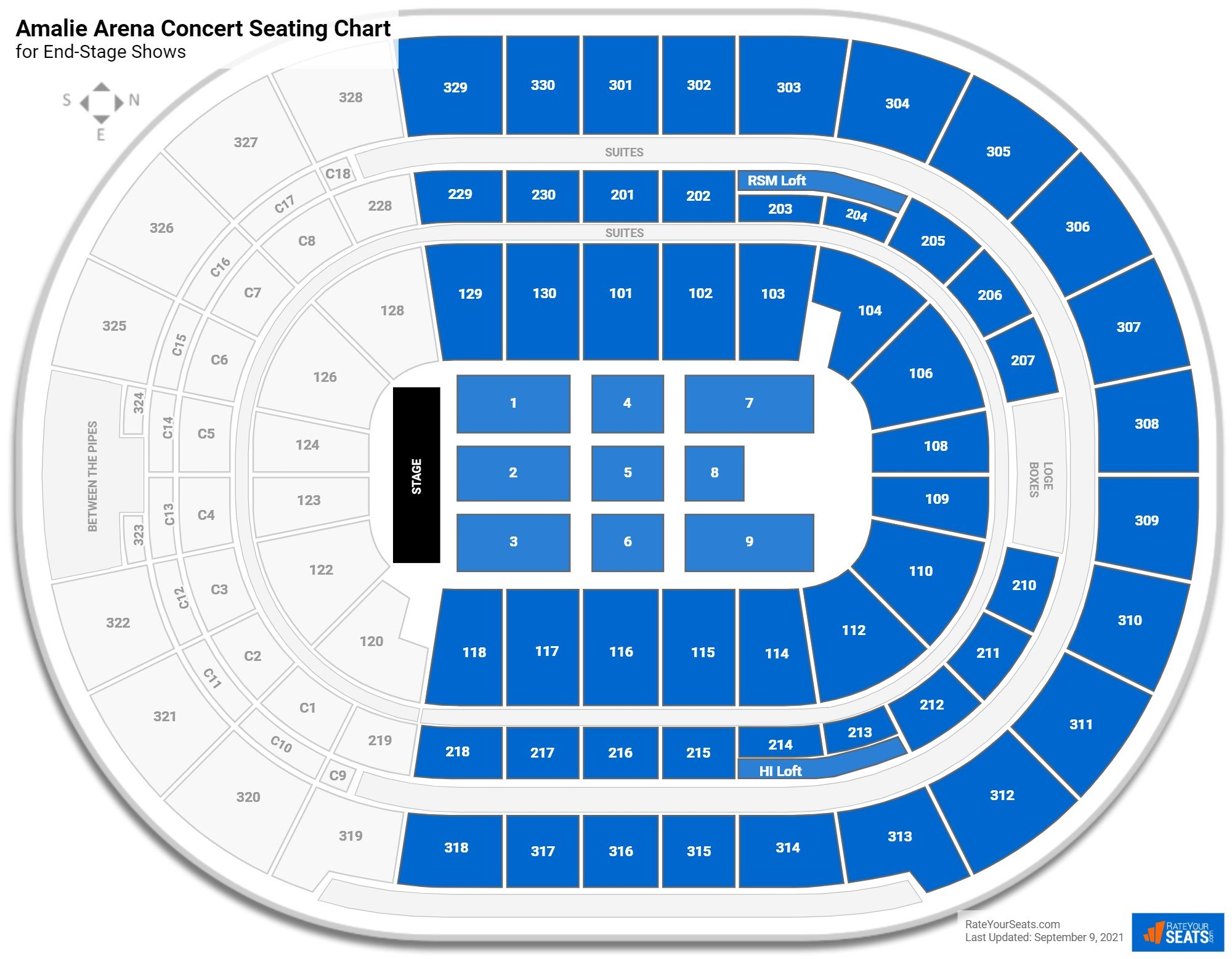 Amalie Arena Seating Chart for Concerts