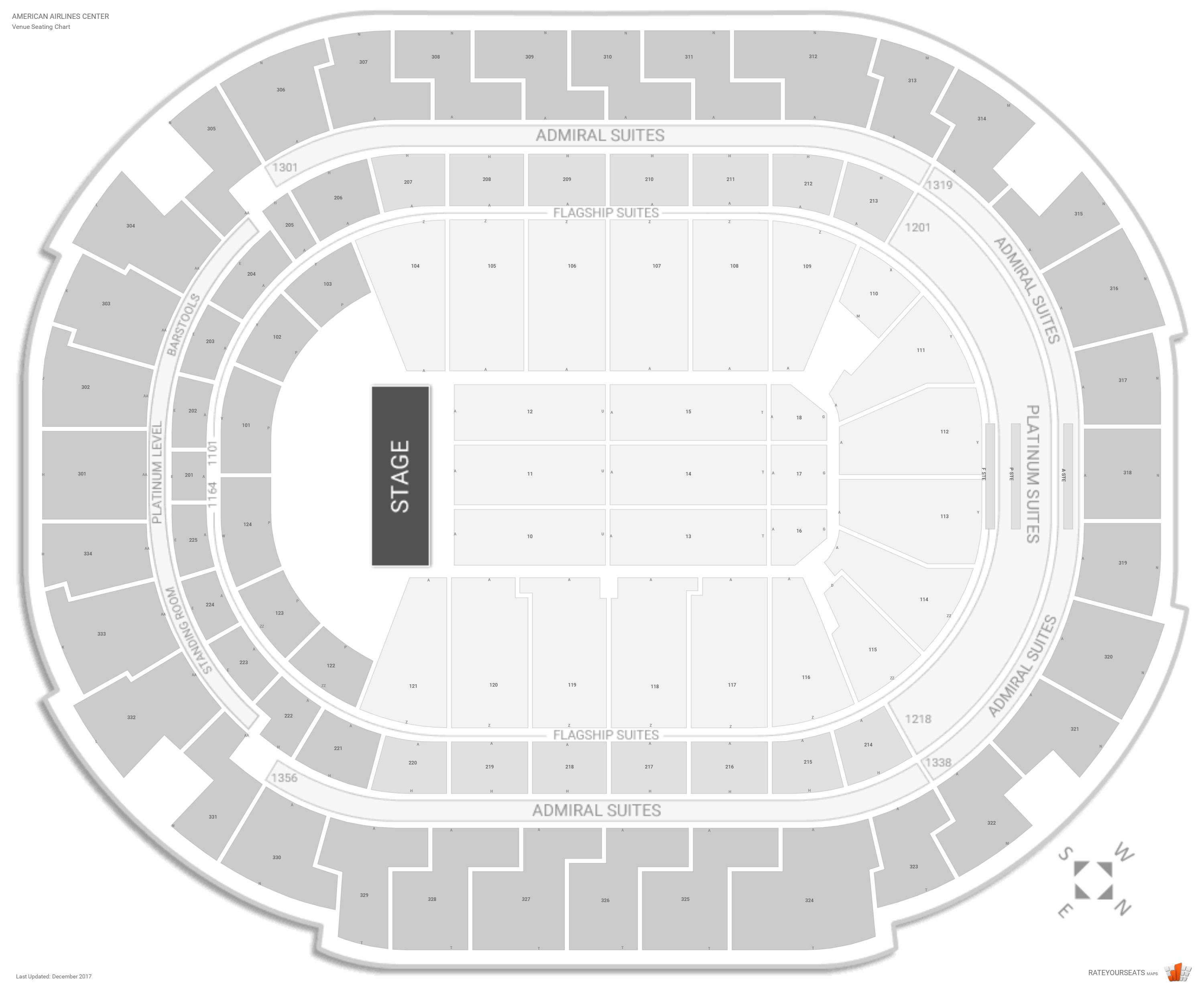 American Airlines Center Concert Seating Guide Rateyourseats Com