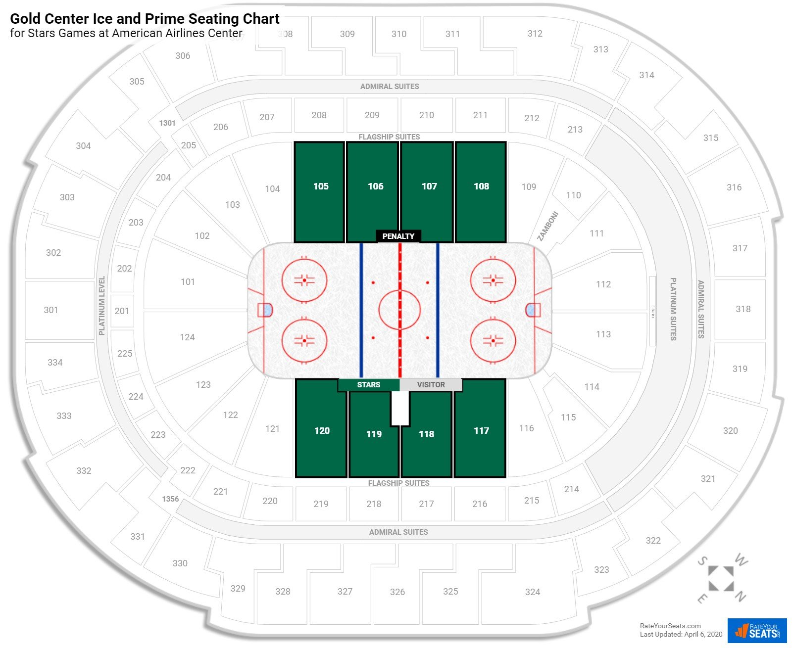 American Airlines Center Plaza Level Side seating chart