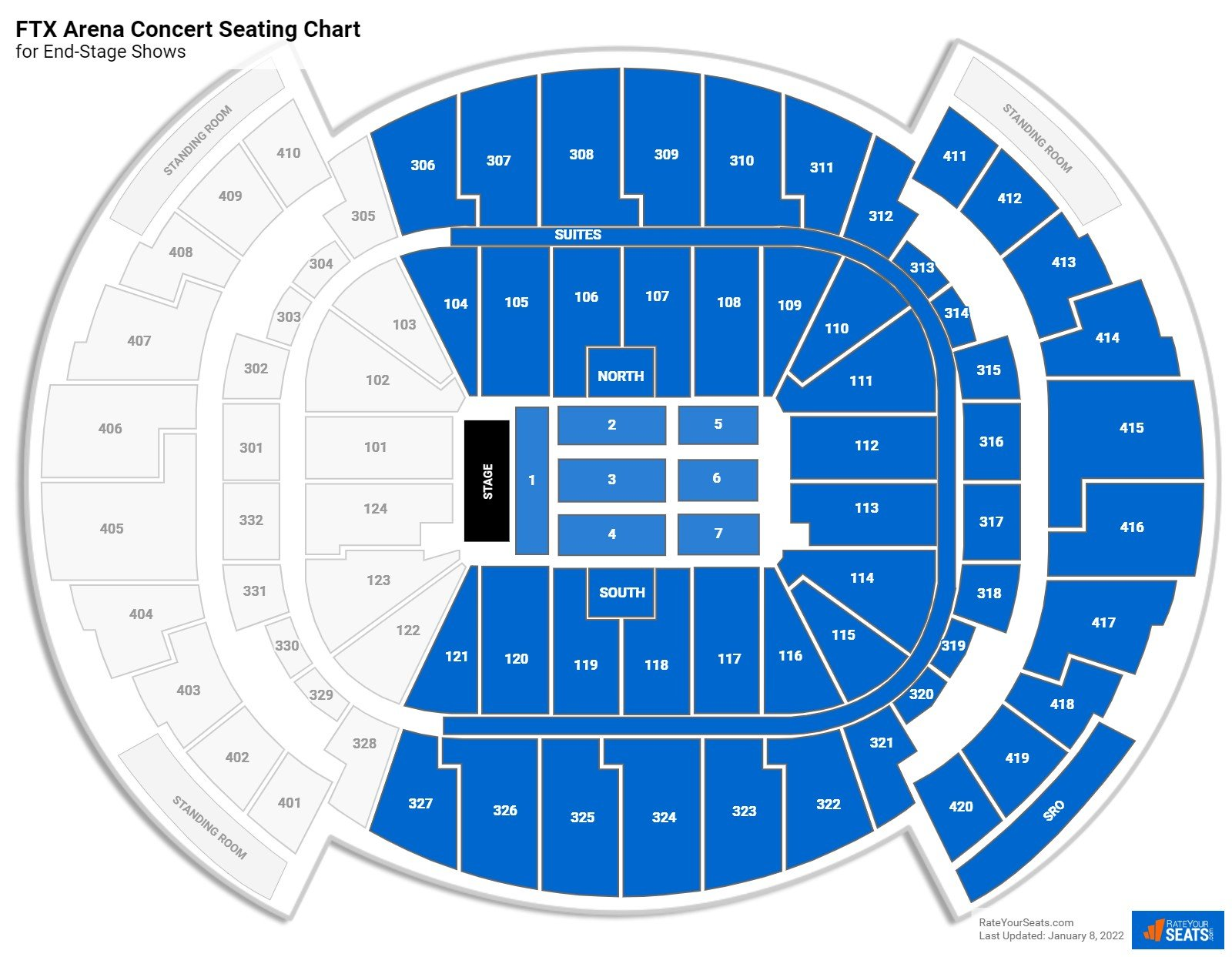 AmericanAirlines Arena Seating Chart for Concerts