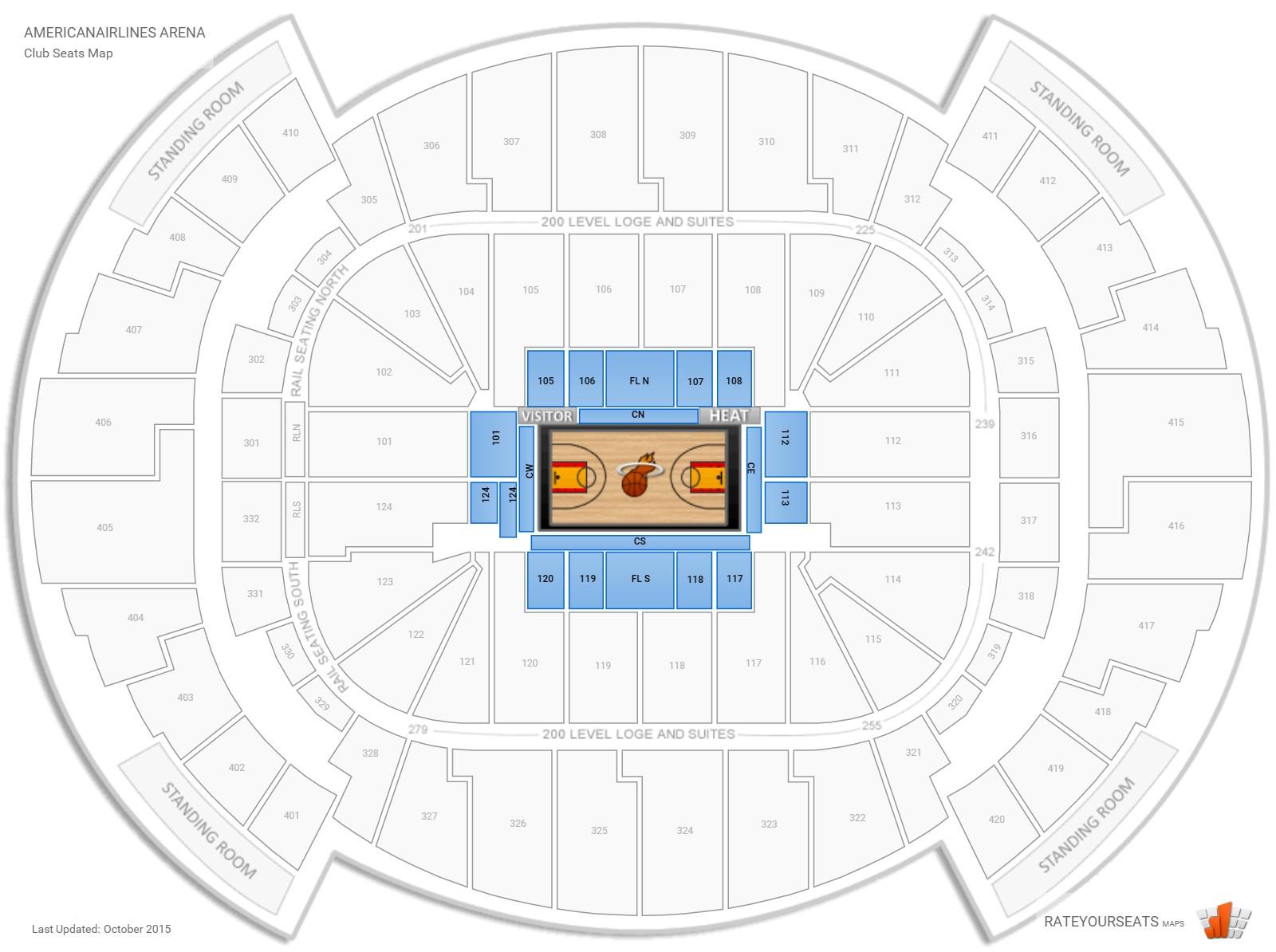 club and premium seating at americanairlines arena