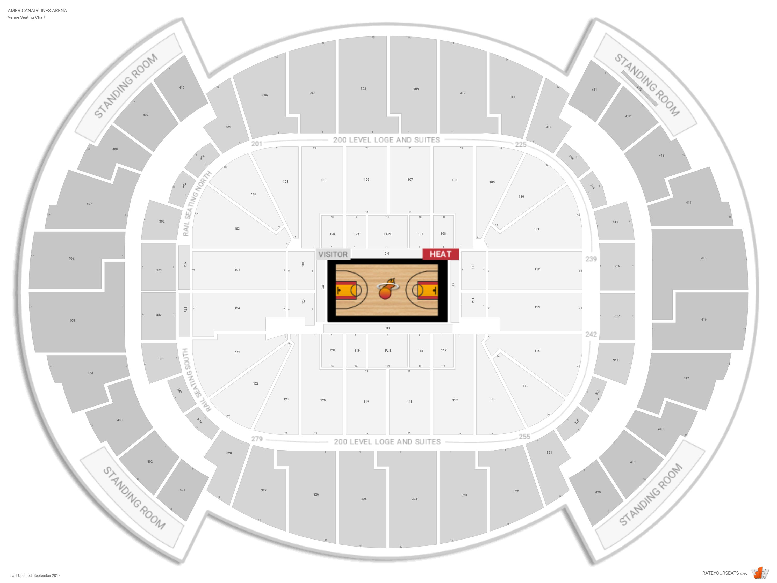 Miami Heat Seating Guide Americanairlines Arena
