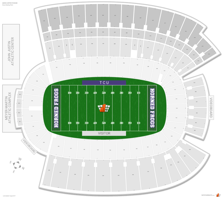 Amon Carter Stadium Tcu Seating Guide Rateyourseats Com