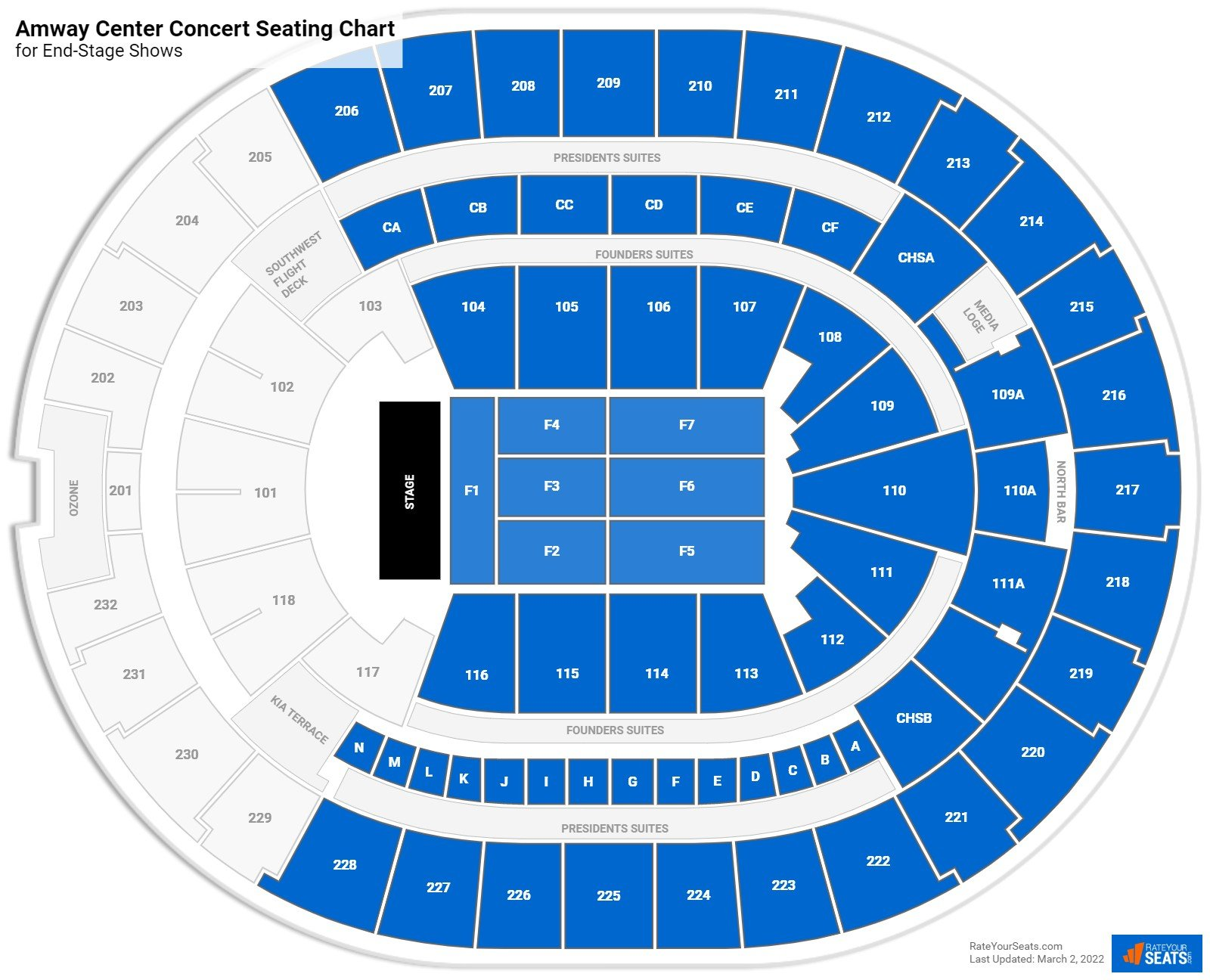 Amway Center Seating Chart for Concerts