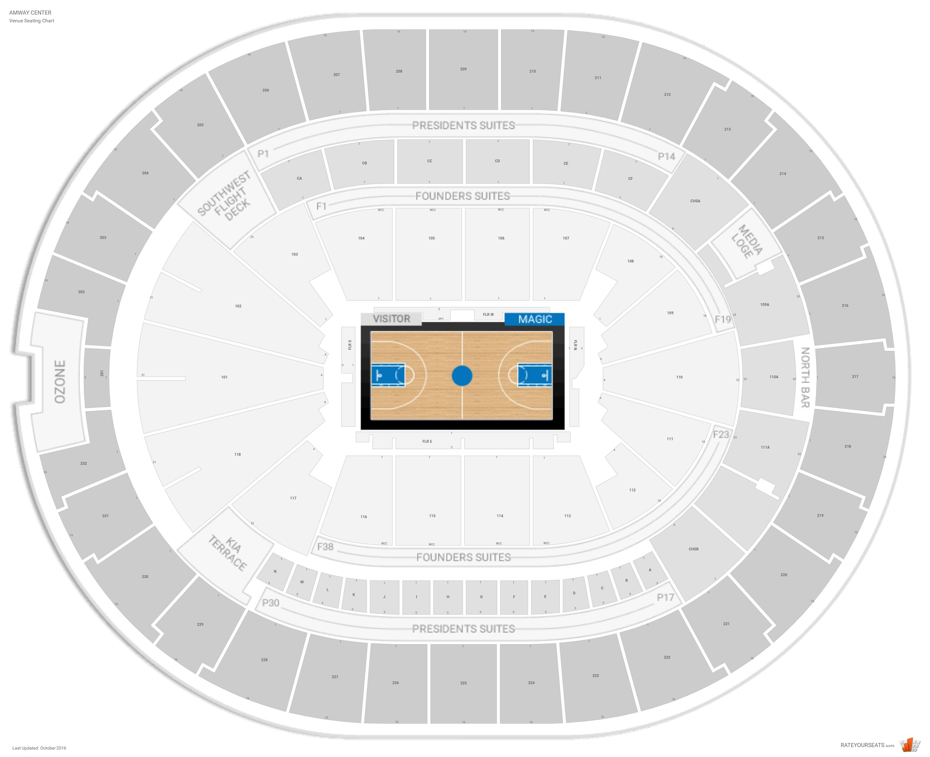 Amway Center Seating Chart With Row Numbers