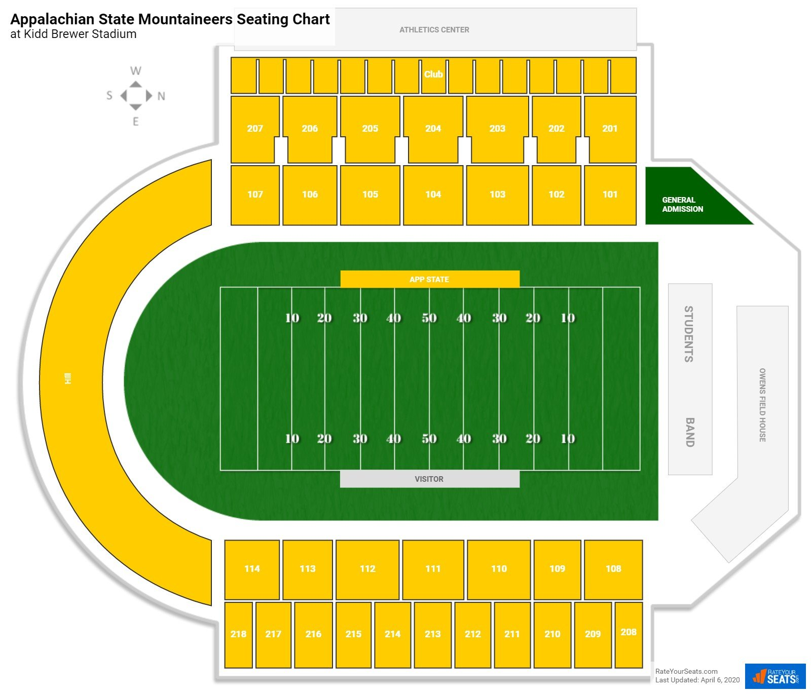 Appalachian State Football Seating Chart